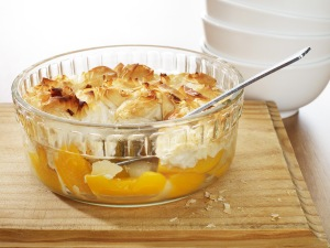 Apple and peach pie